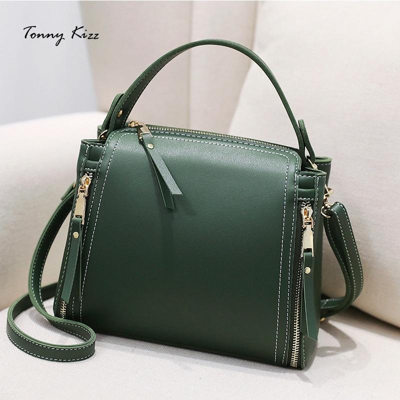 Tonny Kizz brand Bags for women 2018 new handbag college bucket small bag fashion shoulder diagonal package leather handbags