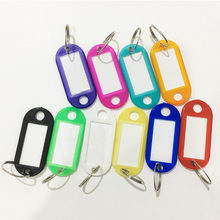 Colorful Plastic Key Fobs Language ID Tags Labels Key Rings 1PC Exquisite 10 Colors Hotels 1PCS Hot Sale Graceful Free Shipping(China)