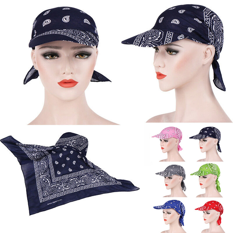 HTB1hfTkbxiH3KVjSZPfq6xBiVXar - Packable Head Scarf Visor Hat With Wide Brim Sunhat Women Summer Beach Sun Hats UV Protection Female Printed Cap