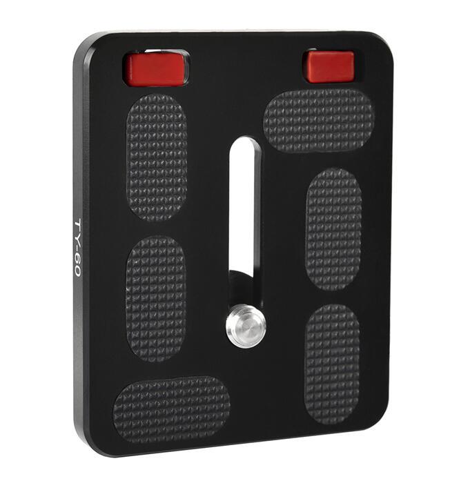 Quick Release Plate Sirui TY60 For Digital SLR Cameras Ball Heads International Standard Screws Safe Fast Set QR Plate