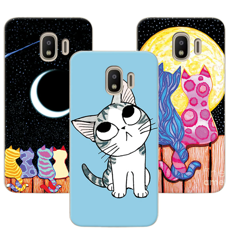 Cute Painted Dog Bear Cat Phone Case For Samsung Galaxy J2 Pro 2018 Cover Soft TPU Capa For Samsung J2 Pro 2018 J250F Fundas
