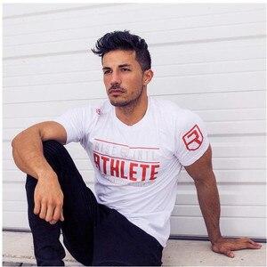 Мужская футболка с коротким рукавом New Rise, футболка для бодибилдинга и фитнеса, мышечные колготки, футболки для фитнеса
