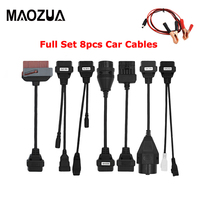 8PCS Adapter Cars Cables Set For TCS CDP Pro  multidiag pro MV diag WOW Cars Diagnostic Interface Cable
