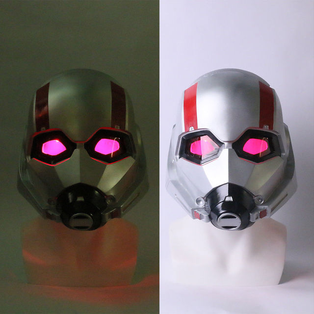 2018 Ant Man LED Helmet Cosplay Ant-Man and The Wasp Scott LED Helmet Mask Props Halloween Party Prop