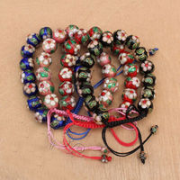 Hot sell Noble wholesale TOP FASHION 12 PCS CHINESE HANDMADE Cloisonne Enamel Cuff Bracelets