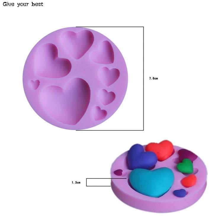 Herzform Silikon Schokoladenform Silikon Herzförmige Form Kuchen - Küche, Essen und Bar - Foto 2