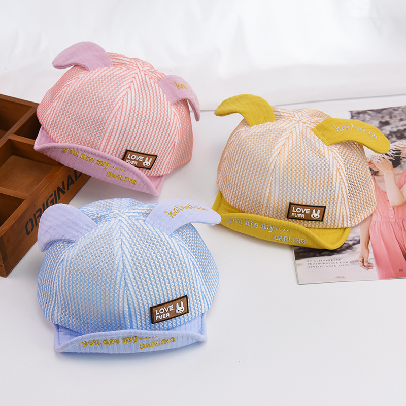 2019 Children Summer Baseball Cap Boys And Girls Breathable Mesh Soft Along Visor Baby Hat Baby Cartoon Puppy Sun Hat Beanies Reputation First