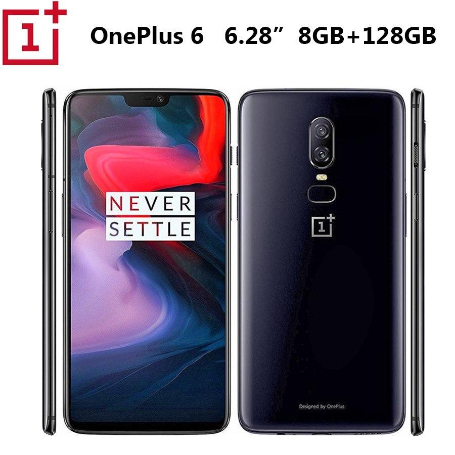 Oneplus Telefone Oneplus 6 A6000 Telefone Móvel LTE OctaCore Snapdragon845 20MP 8GB de RAM 128GB ROM 6.28