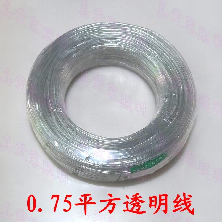 10 metri/ล็อตโต้2*0.75มิลลิเมตรp lastica trasparenteในพีวีซีfilo elet trico luce del pendente cavo di alimentazione 2*0.75มิลลิเมตรpotenza
