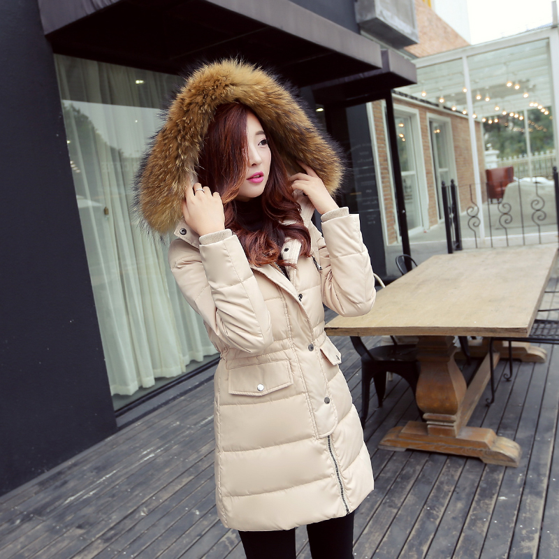 High Quality 2016 Fashion Women Parka Winter Jacket Female Long Coat Thick Fur Hoody Lightweight Down Jacket Outwear M-3XL  high quality womens coats winter fashion women parka winter jacket female long white duck down parkas coat thick hoody coat