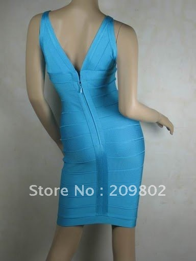 100%Free Ship Best Selling Women's Dress Luxury Vest Sleeveless Bandage Dress Hand Made Sexy Cocktail Party Evening Dresses