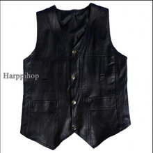 Harppihop Men genuine sheepskin leather vest spring and summer fur male plus size 5XL 6XL free shipping