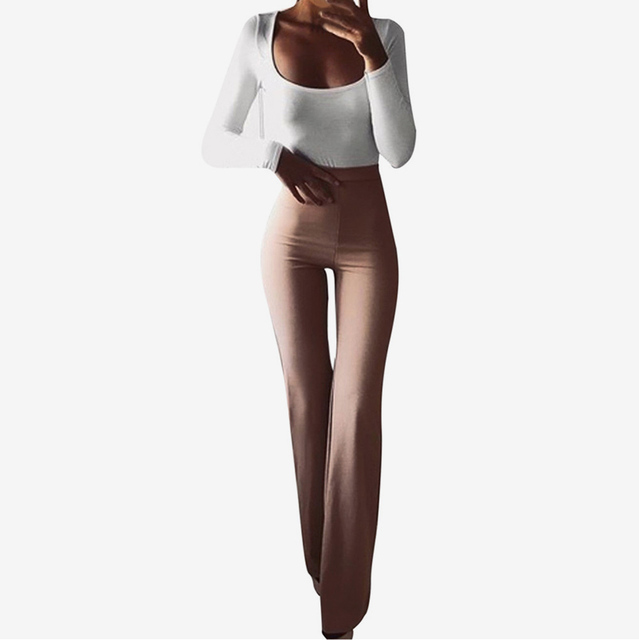 Women's Flare Pants Bell Bottom Sweatpants Sportswear Fitness Spring Autumn Elastic Trousers For Women Soft Track Pants Lady
