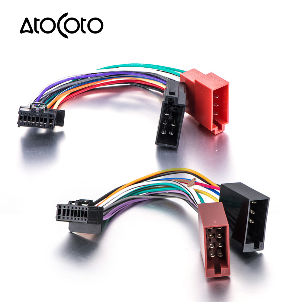 medium resolution of car stereo radio iso standard wiring harness connector adaptor cable loom for pioneer deh p