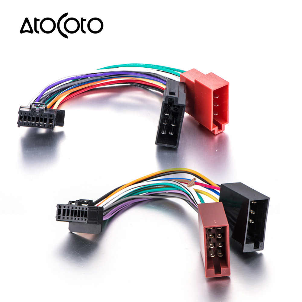 car stereo radio iso standard wiring harness connector adaptor cable loom for pioneer deh p  [ 1000 x 1000 Pixel ]