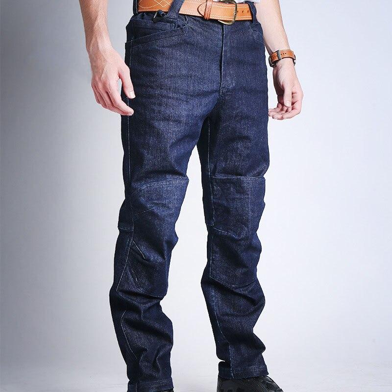 Droppshiping Men Tactical Jeans Warm Breathable Wear-resistant Sweat Absorbing Multi-pockets Denim Pants Dg88