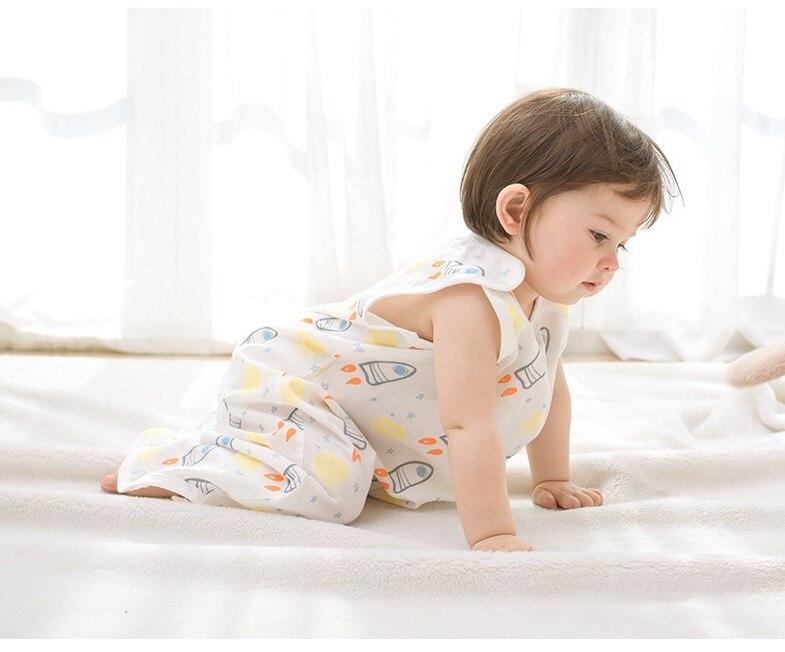 0 4 Years Muslin Cotton Children Sleeping Bag Baby Sleeping Bag Sleeveless Sleepware Kid 39 s Sleepsack Baby Anti Kick Quilt Summer in Blanket Sleepers from Mother amp Kids