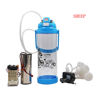 Milking machine for Goat 3L/0.8Gal Portable Milker Double Teats Vacuum Pump Sheep Milking Machine Automatic Milker random color