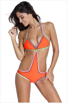 Handmade Crochet Neoprene One Piece Swimsuit 1