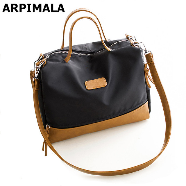 57f837b9768f ARPIMALA 2017 Winter Large Women Bags High Quality Nylon Handbags Fashion  Ladies Shopper Travel Bag Designer Women Messenger Bag