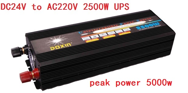 Modified Sine Wave Power Inverter 2500W DC24V to AC220V UPS Universal Uninterrupted Power Supply 3000w dc24v to ac220v modified wave power inverter charger