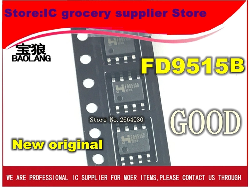 Free Shipping 10pcs New And Original FD9515B FD9515 SOP8 IC