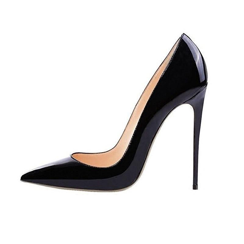 black Alta Zapatos De Caliente Boda Calidad Pie Black Fiesta Cuero Tacones black 8cm Señora Puntiagudo Venta Las Dedo 12cm Del Mujeres 10cm RvfnRx5w