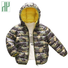 HH Kids Cotton Down Jacket coat Hooded outerwear camouflage printing baby girls parka Winter jackets children parka 2 7years parka justine parka page 2