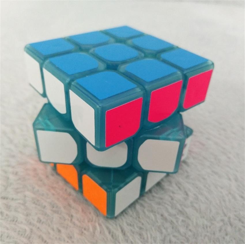 3 * 3 * 3 Mavi Aydınlık Pürüzsüz Hız neo Küp Çocuk Bulmaca - Oyunlar ve Bulmacalar - Fotoğraf 5