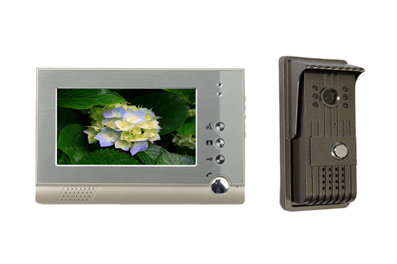 7 Inch TFT Monitor 4 Cord Wired Video Door Phone  V80-F