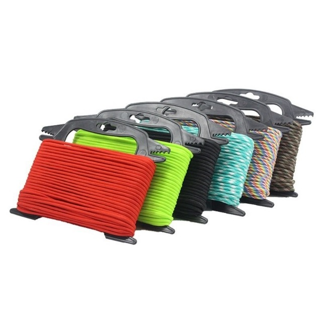 Best Offers Paracord Ladder Fishing Tools Winder Black Spools Rope Organizer Shaft Tool Hold Fishing Line Winder Cable 100ft Parachute Cord
