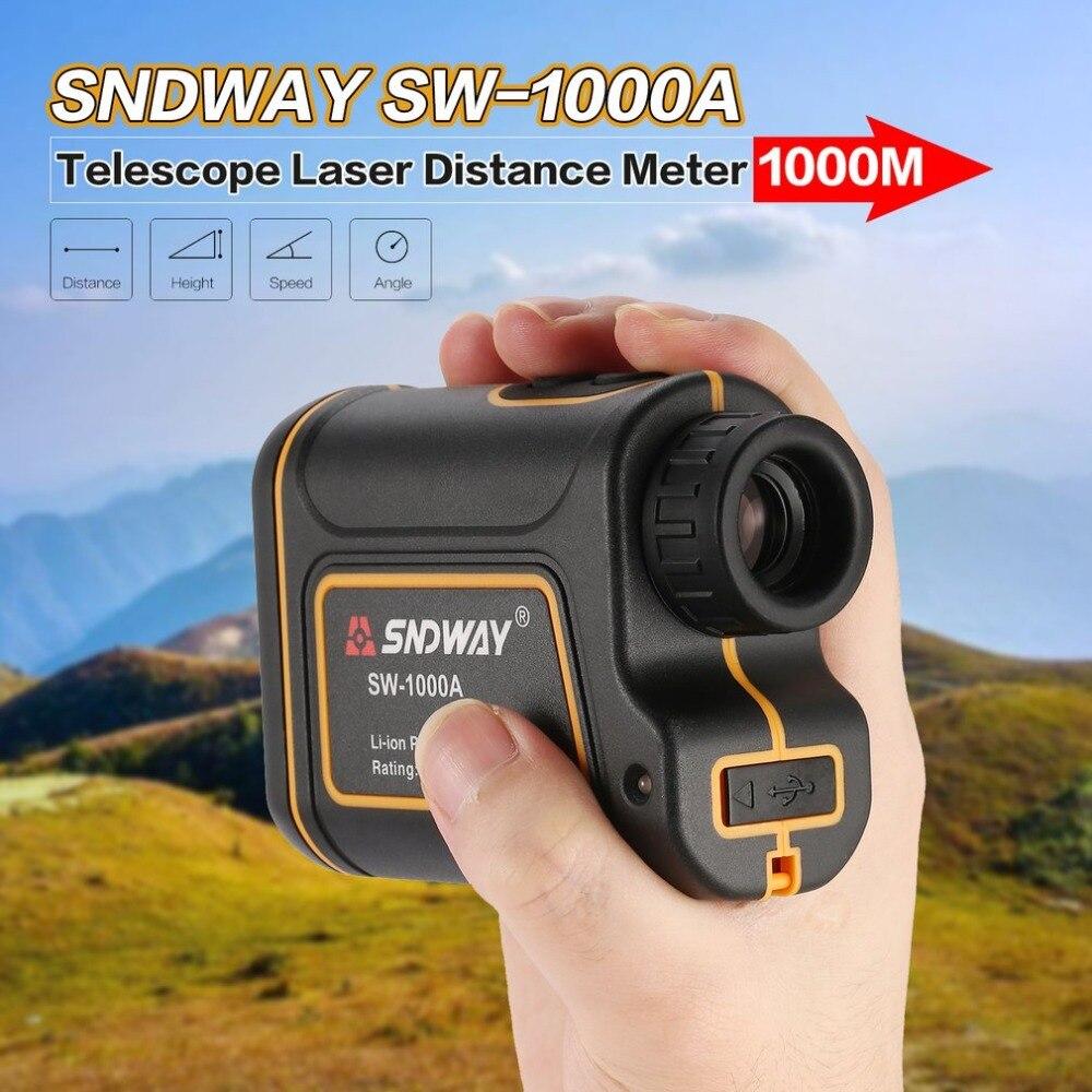 SNDWAY SW-1000A Telescópio Monocular Telêmetro Laser 1000 m Trena Medidor de Distância A Laser de Golfe Caça laser Range Finder