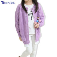 Girls Sweater Kids Girl Cardigan High Quality Knitted Child Sweaters Lace Edge Patchwork Toddler Coat Winter