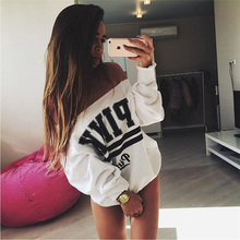 autumn and winter new Large size long-sleeved printed Sweatshirts letters Women's Clothing