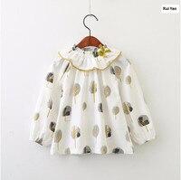 Y3114740 2018 New Spring Baby Girls Dress Print Fashion Girl Dress Ruffles Princess Toddler Baby Dress