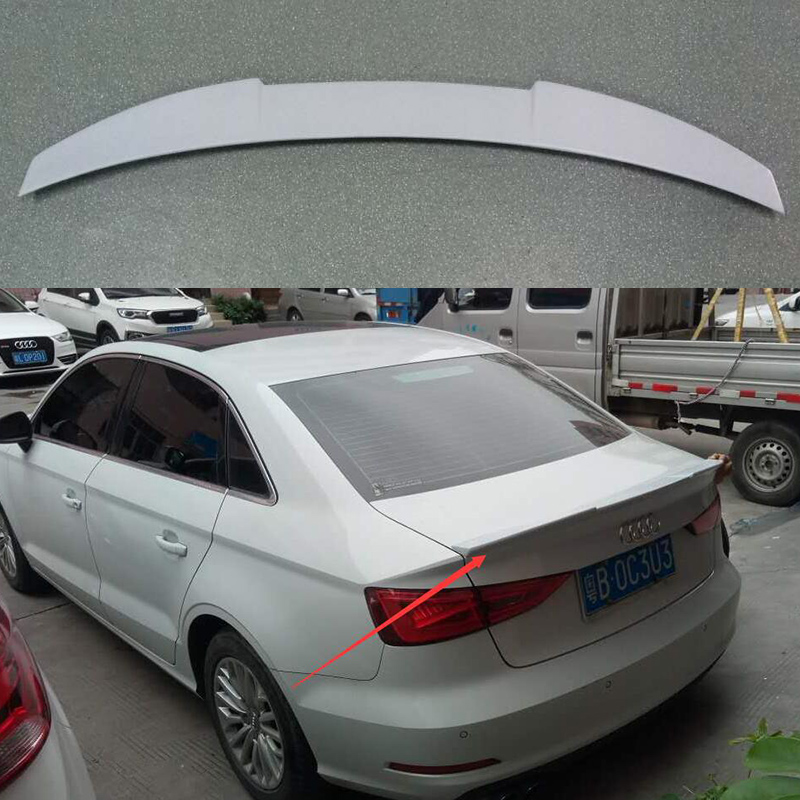 цена на FRP Primer A3 V Styling Car Rear Trunk Spoiler Lip Boot Wing Fit for Audi A3 S3 8V sedan 2014 2015 2016 Rear Wing