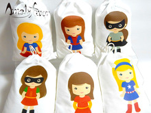 Girl Super Heroes Birthday Favor Bags Candy Gifts Party for or Treats Kids Decor