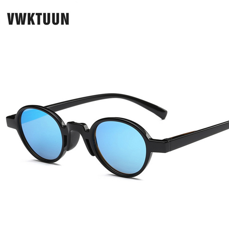 aba05e3f382 VWKTUUN Round Sunglasses Women Men Steampunk Vintage Sunglass Mirror Glasses  New Oculos Outdoor Sport Goggles Male Lunette