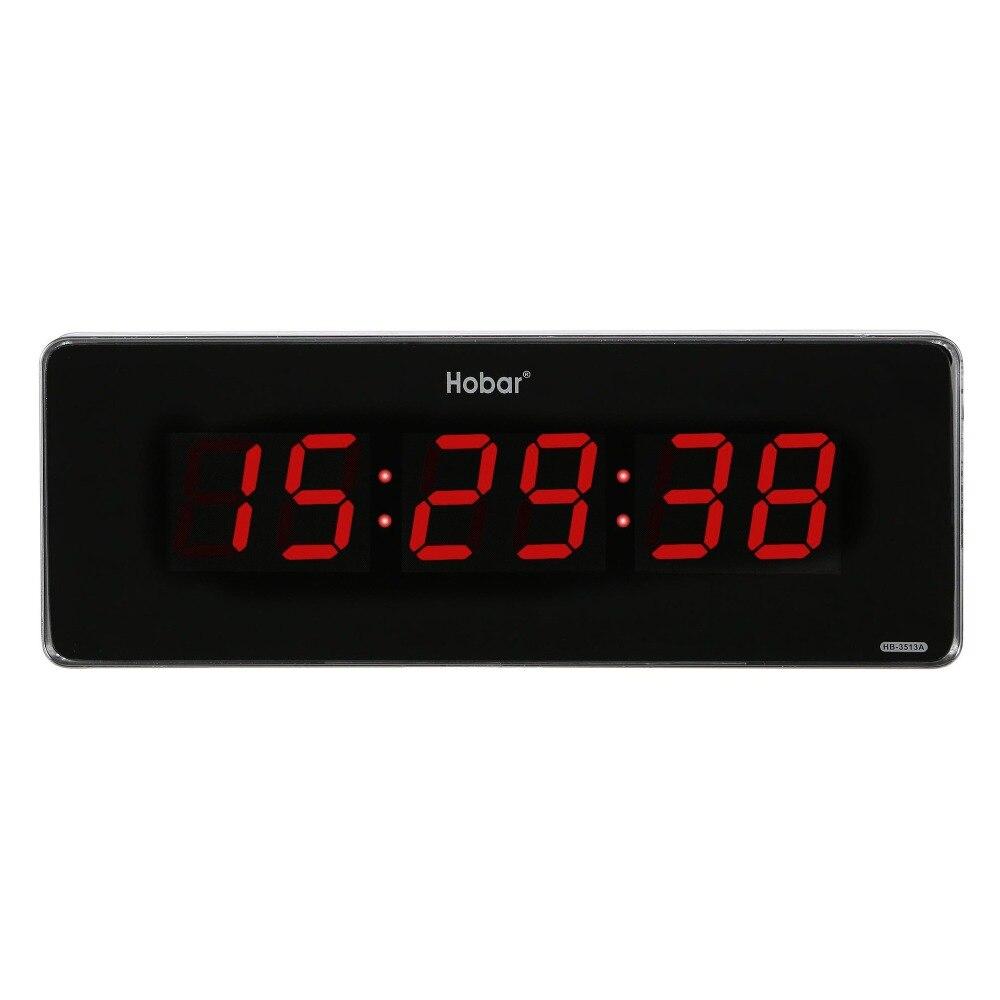 Horloge électrique enfichable d'horloge de mur LED électronique de grande taille extérieure avec le deuxième affichage décor à la maison horloge silencieuse horloge mémoire de temps