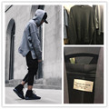 hiphop blank hoodies kpop clothes justin bieber pullover S-XL side open oversized hood hoodie men jacket fear of god