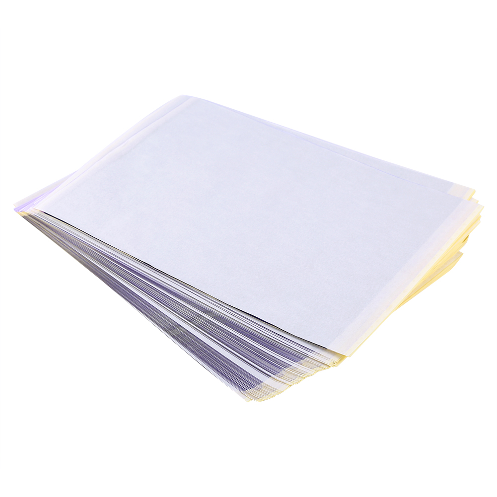 Image 3 - 100pcs Tattoo Transfer Paper Tattoo Supplies Copy Sheet Carbon Tracing Paper Thermal Transfer Papier Stencil Tattoo accessories-in Tattoo accesories from Beauty & Health