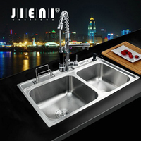 Best Bathroom Sink Faucet Torneira New Good Quality Stainless Steel Sink WashBasin Countertop SS 128525 Faucet