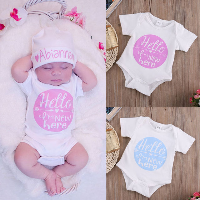 84e2a8693f64 Toddler Kids Rompers Cute Letter Love Arrow Baby Girl Boy Clothes Romper  Short Sleeve Candy Color Round Jumpsuit Outfits Set
