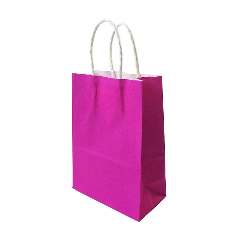 10pcs lot Solid Color Gift Paper Bags 21X15X8cm With Handle Shopping Christmas Wedding Party Gift Packing Bag Excellent Quality in Gift Bags Wrapping Supplies from Home Garden