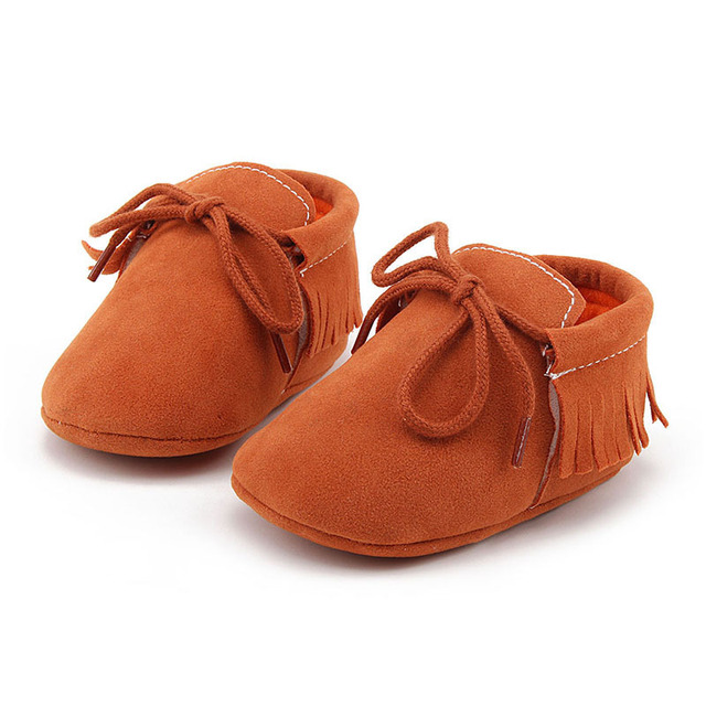 8f93ed233f6 US $2.97 |Newborn Baby Boy Girl Multicolor Lace up Soft Bottom Tassels  Single Study Walking Shoes Baby Sale-in First Walkers from Mother & Kids on  ...