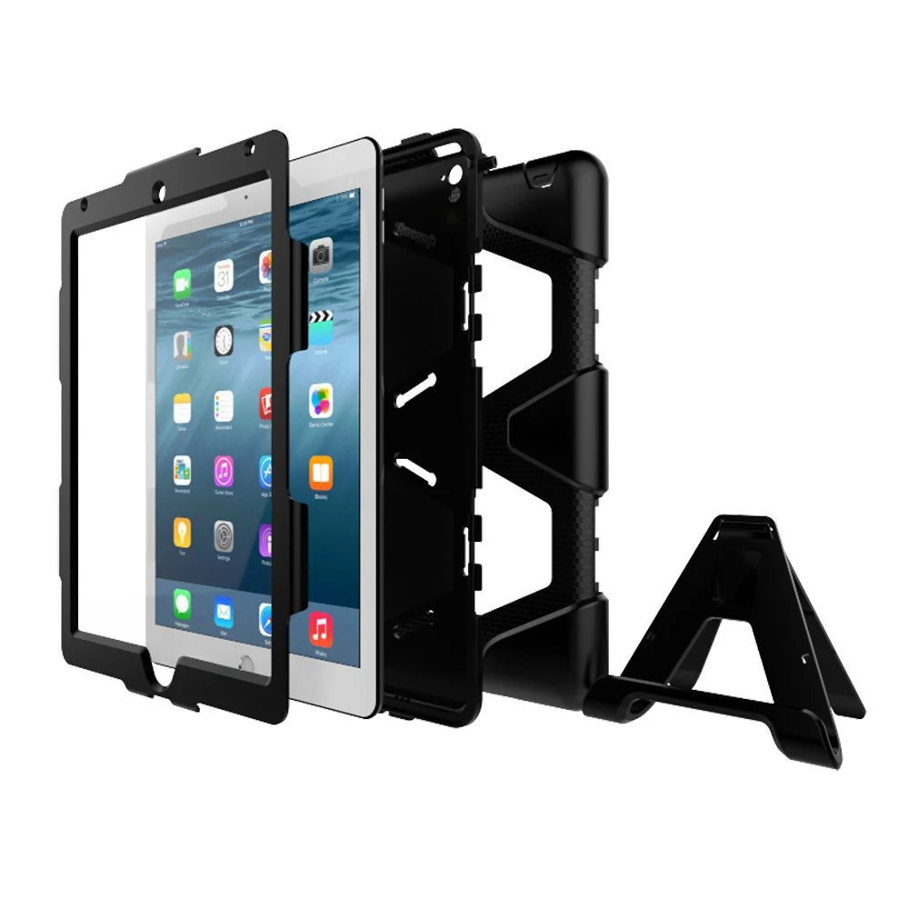 Axbety Heavy Duty Case For iPad Air 2 Case Full Protect Kickstand Hybrid Cover For iPad 6 Air 2 Shockproof Armor Tablet Cases axbety heavy duty case for ipad air 2 case full protect kickstand hybrid cover for ipad 6 air 2 shockproof armor tablet cases
