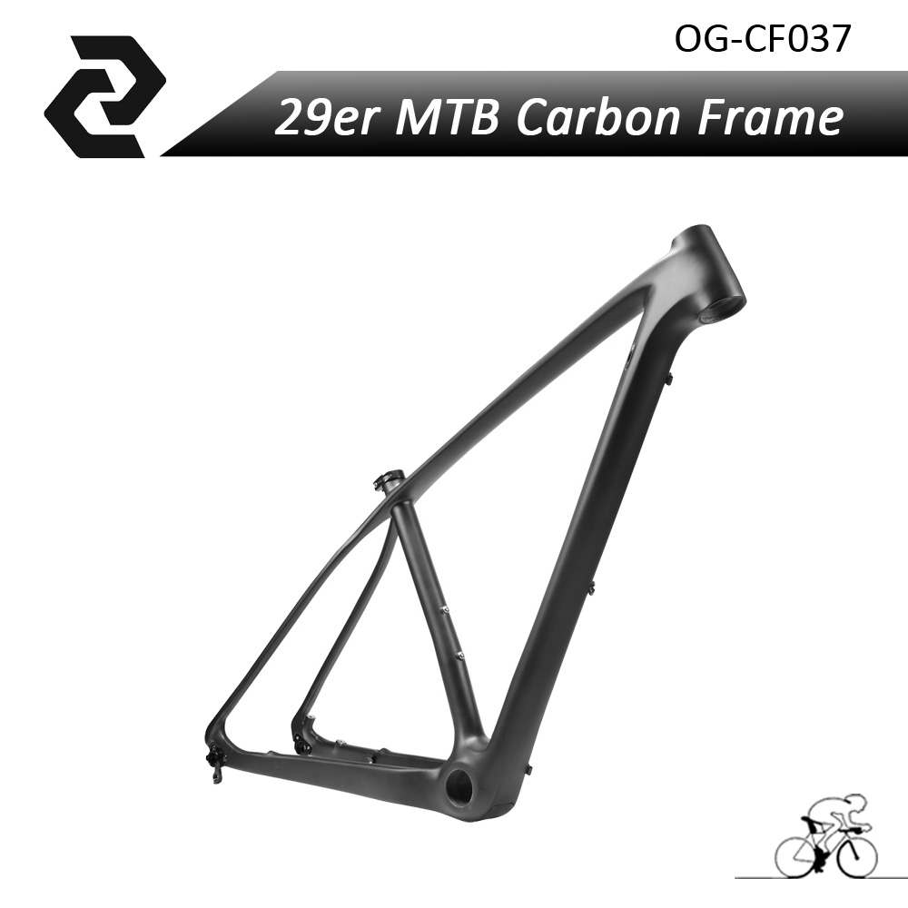 купить OG-EVKIN New Mountain Bike 29er Carbon Frame Ud Weave BSA/BB30/PF30 Glossy/Matte MTB carbon bicycle frame 29er 15''/17''/19'' дешево