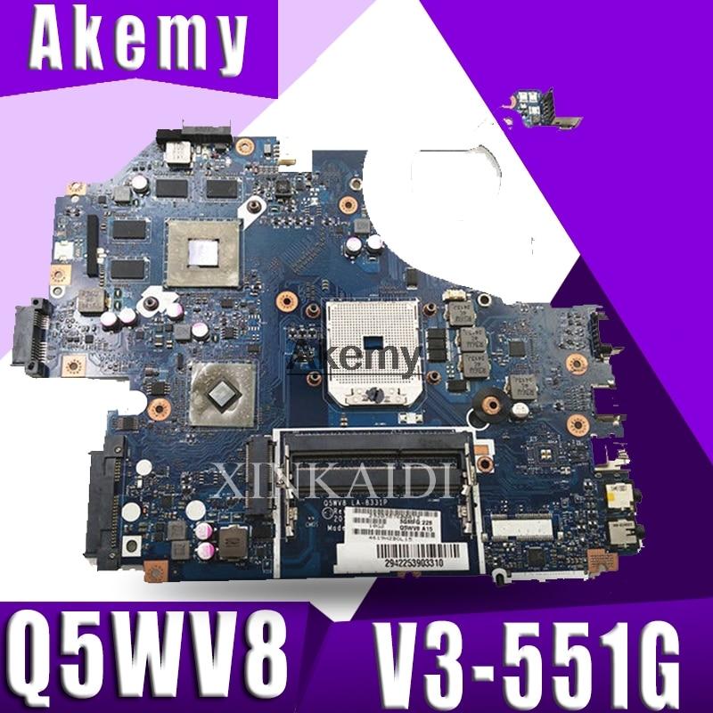 NBC1811001 Q5WV8 LA-8331P carte mère Pour acer aspire V3-551G V3-551 ordinateur portable carte mère DDR3 Radeon HD 7670 M test original