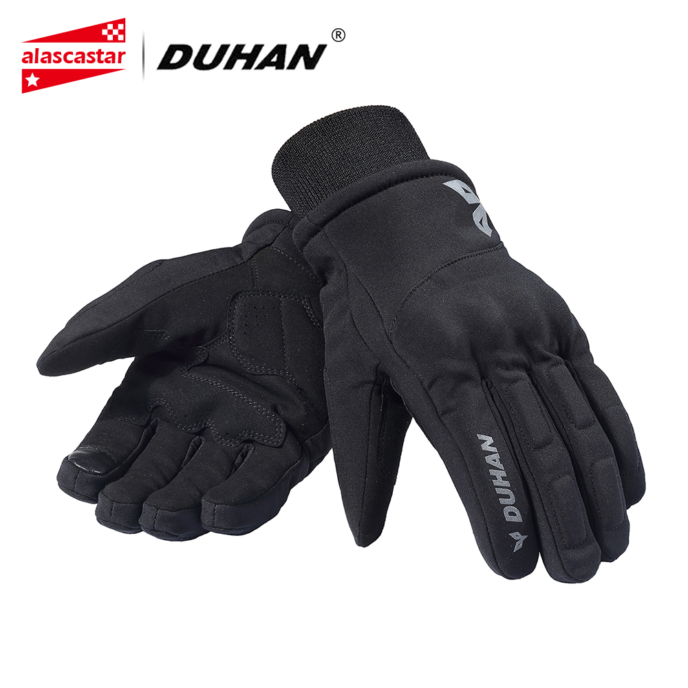 DUHAN Autumn Winter Motorcycle Gloves Men Touch Screen Motorbike Glvoes Waterproof Cold-proof Warm Riding Gloves Moto Guantes