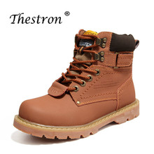 2019 Hot Sale Working Safety Boots Brand Designer Casual Men Shoes Inside Fur Skiing Yellow Brown Leather Boot
